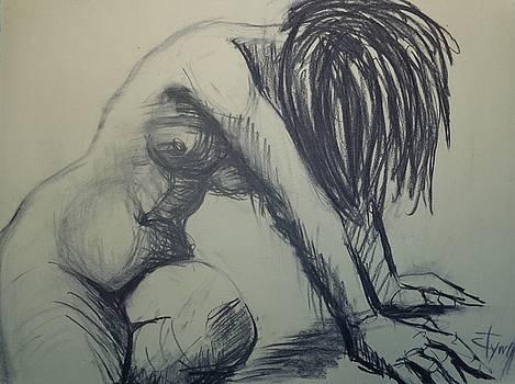 Dramatic 4 - Female Nude  by Carmen Tyrrell