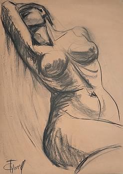 Dramatic - Female Nude by Carmen Tyrrell
