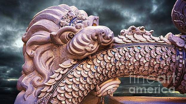Dramatic Lion and Serpent Legend  by Ian Gledhill