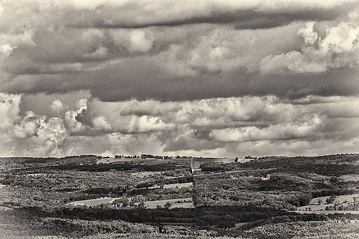 Dramatic Monochrome Vista by Nancy De Flon