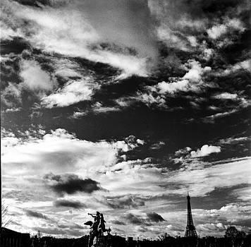 Cyril Jayant - Dramatic Sky in Place de La Concorde.