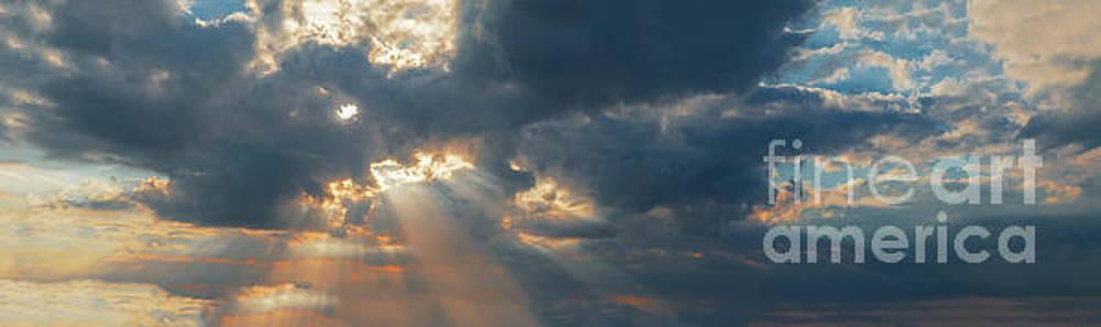 Dramatic Sunset Panorama by Aleksey Tugolukov