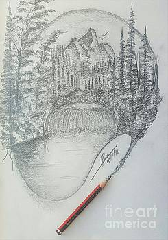 Drawing a Masterpiece  by Collin A Clarke