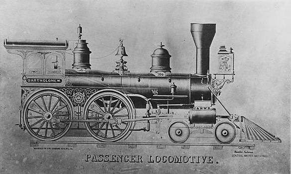 Chicago and North Western Historical Society - Drawing of  Locomotive