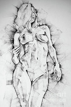Dimitar Hristov - Drawing Of Girl Portrait Standing Figure