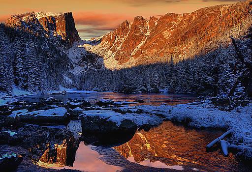 Dream Lake sunrise 5 by Kenneth Eis