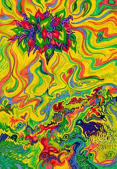 Dream-scaped Swamp Garden 2 by Julia Woodman