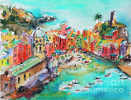 Dreaming of Vernazza Cinque Terre Italy by Ginette Callaway