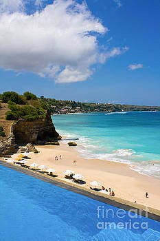 Dreamland Beach in Bali by Christy Woodrow