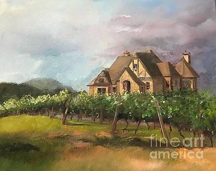 Dreams Come True - Chateau Meichtry Vineyard - Plein Air by Jan Dappen