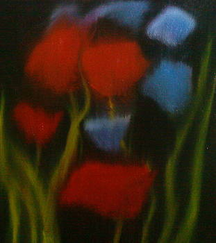 Dreams Of Red in Blue by Portland Art Creations