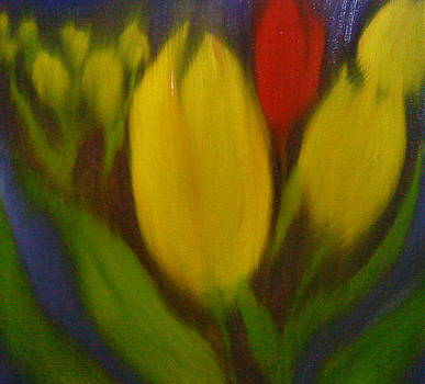 Dreams OF Yellow Red Love by Portland Art Creations