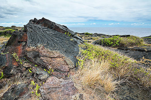 Dried lava flow by Joe Belanger