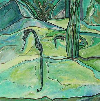Drifting Seahorse by Heather Lennox