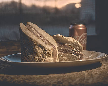 Drink and Sandwich  by Philip A Swiderski Jr