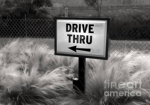 Gregory Dyer - Drive Thru Sign in Black and White