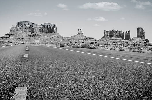 Margaret Pitcher - Driving Monument Valley Monochrome