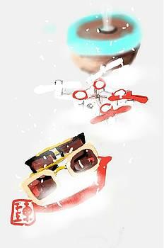 Drone In Snow by Debbi Saccomanno Chan