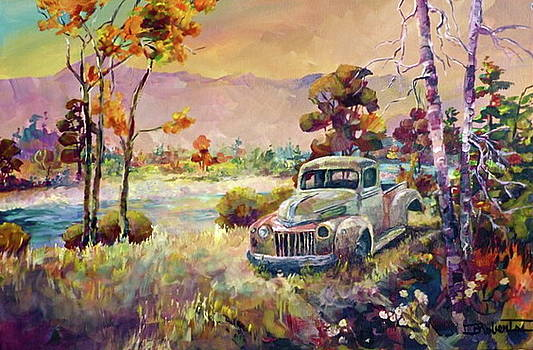 Drove My Chevy whoops make that Ford to the Levee by Bonny Roberts
