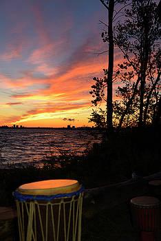 Reimar Gaertner - Drums at sunset on Hanlan