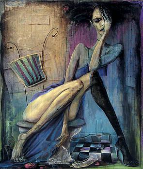 Drunk Girl In The Toilet by Vakho Kakulia