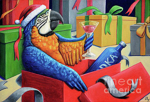 Drunk Macaw by Rebecca Tiano