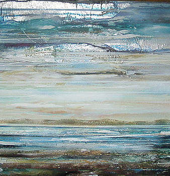 Druridge Bay Blue and Silver Morning by Mike   Bell