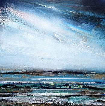 Druridge Bay Rhythms and Textures series Blue and Silver by Mike   Bell