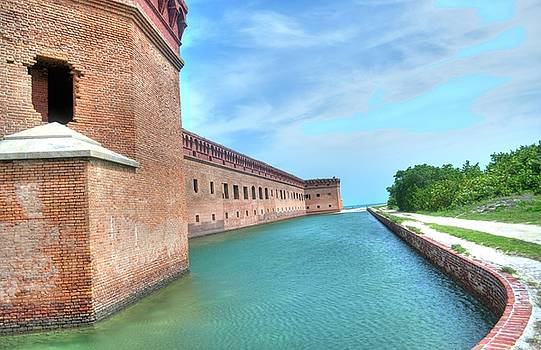 Dry Tortugas - Fort Jefferson - East Side by Timothy Lowry
