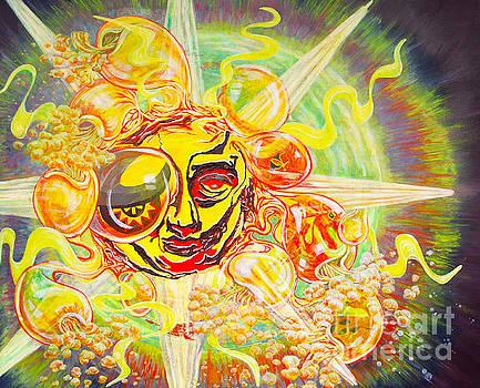 2015 CBS Sunday Morning Sun Art-Solar Flares by Gail Allen