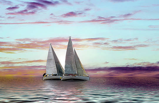 Dual Sailboats - Paint FX by Brian Wallace