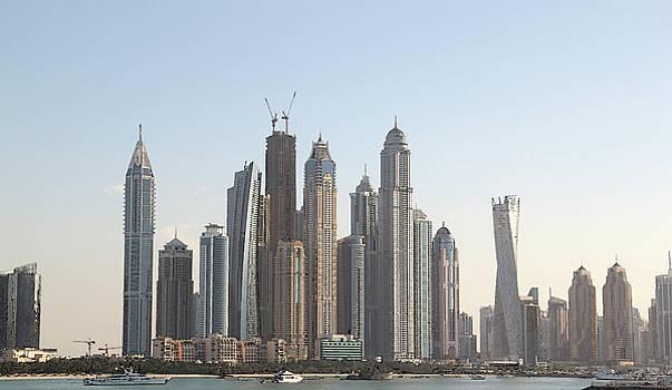 Dubai City Skyline by Sandeep Gangadharan