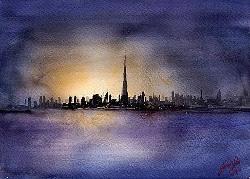 Dubai Sunrise by James Nyika