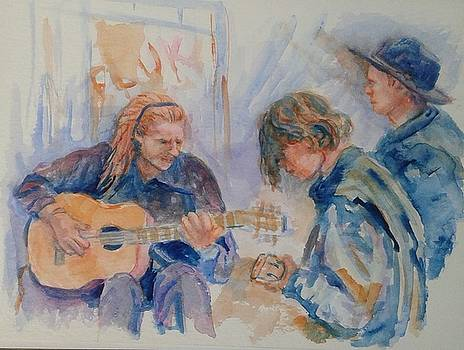 Dublin Street Musicians by Ruth Mabee