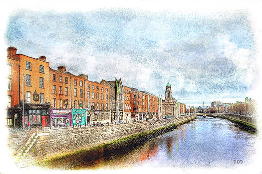 Dublin Watercolour by Declan O'Doherty