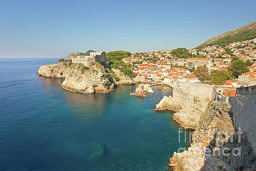 Dubrovnik City Walls and Inviting Adriatic by Matt Tilghman