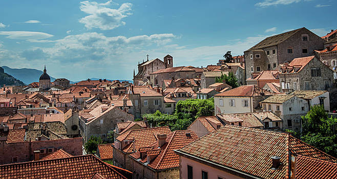 Dubrovnik Croatia Skyline by Alida Thorpe