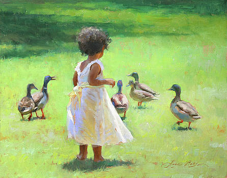 Duck Chase by Anna Rose Bain