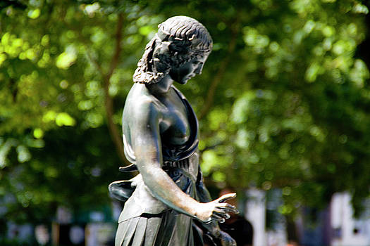 Duck Girl in Rittenhouse Square by Christopher Woods