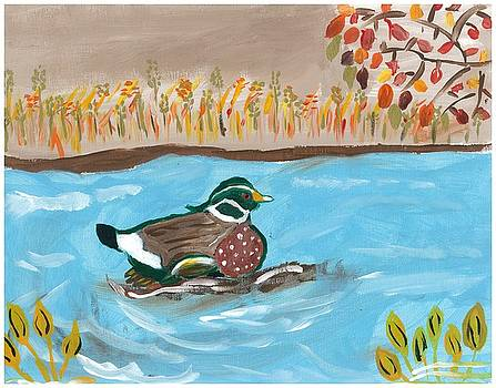Duck in Water by Rosemary Mazzulla