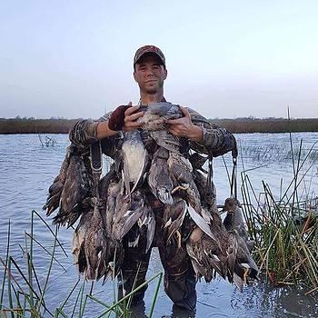 Ducks #ducks #goodshot #hunt #nephew by Gin Young