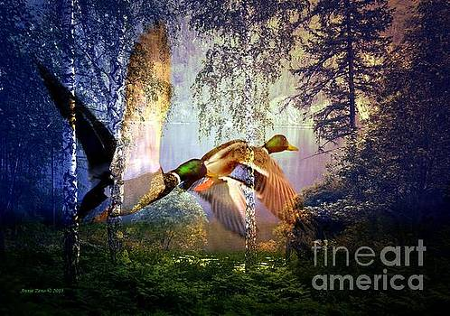Ducks Flying To The Lake by AZ Creative Visions