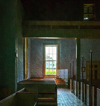 Dudley's Chapel Window - Painting Effect by Brian Wallace