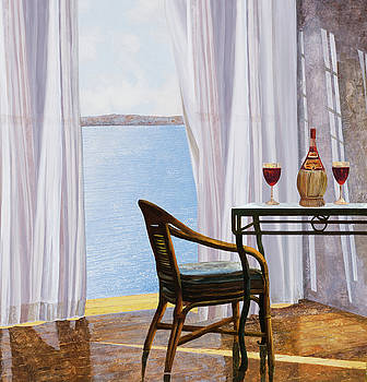 Due Rossi Al Mare by Guido Borelli