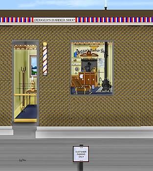 Dugger's Barber Shop by Anne Norskog