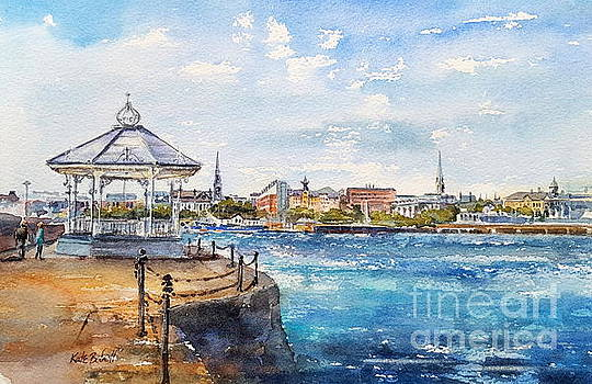 Dun Laoghaire from the East Pier by Kate Bedell