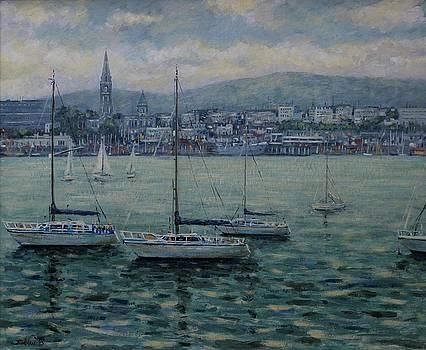 Dun Laoghaire Harbour Dublin by John  Nolan