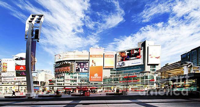 Dundas Square Toronto Ontario Canada by Colin Cuthbert