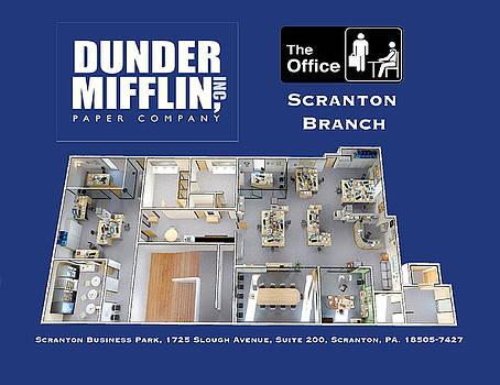 Dunder Mifflin Floor Plan by Paul Van Scott