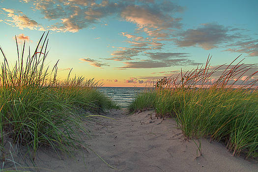 Dune Path at Sunset by Jackie Novak